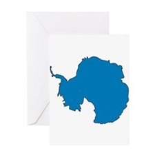 Antarctica Flag Map Greeting Card