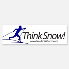 Think Snow! Bumper Bumper Bumper Sticker