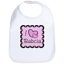 I Love Babcia Bib