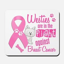 Westies Against Breast Cancer 2 Mousepad