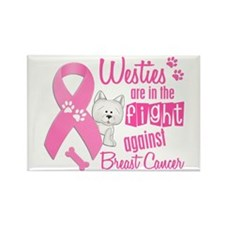 Westies Against Breast Cancer 2 Rectangle Magnet (