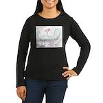 Neon Gamefowl Women's Long Sleeve Dark T-Shirt
