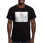 Neon Gamefowl Men's Fitted T-Shirt (dark)