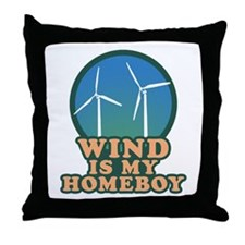 Wind Is My Homeboy Throw Pillow