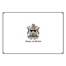 Antiguan Coat of Arms Seal Banner