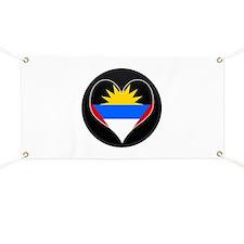 I love Antigua Flag Banner