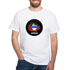 Flag Map of Antigua Shirt