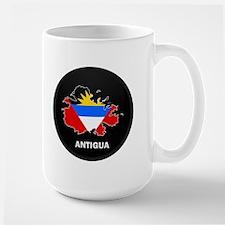 Flag Map of Antigua Mug