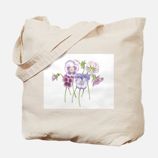 Pretty Pansy Tote Bag
