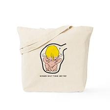 Blonde EGGBERT Wonder What Tote Bag