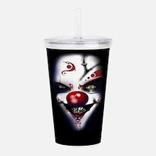 Evil Clown Acrylic Double-Wall Tumbler