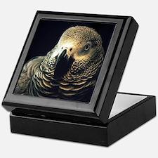 Moody African Grey Keepsake Box