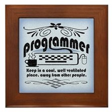 Programmer Framed Tile