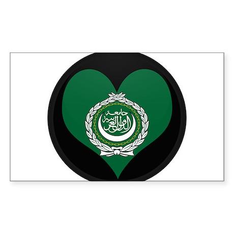 I love Arab Flag Rectangle Sticker