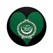 """I love Arab Flag 3.5"""" Button"""