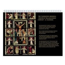 William Morris Stained Glass Wall Calendar