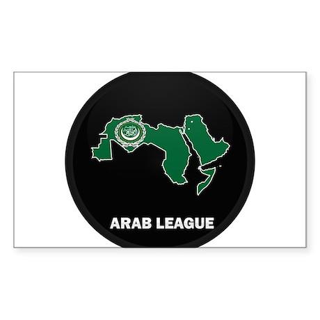 Flag Map of Arab Rectangle Sticker