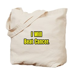 """I Will Beat Cancer"" Tote Bag"