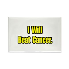 """I Will Beat Cancer"" Rectangle Magnet (100 pack)"