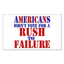 A Message for Rush Rectangle Decal
