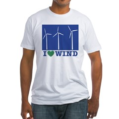 I Love Wind Fitted T-Shirt