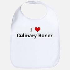 I Love Culinary Boner Bib