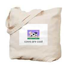 Funny Purple cow Tote Bag