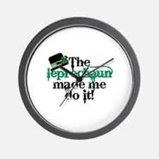 Leprechaun made me hat Wall Clock