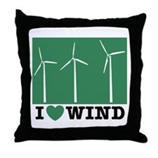 I Love Wind Throw Pillow