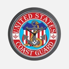 Coast Guard Masons Wall Clock