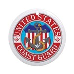 Coast Guard Masons Ornament (Round)