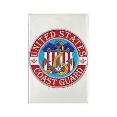Coast Guard Masons Rectangle Magnet (100 pack)