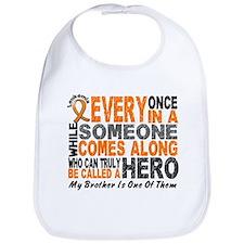HERO Comes Along 1 Brother LEUKEMIA Bib