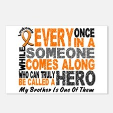 HERO Comes Along 1 Brother LEUKEMIA Postcards (Pac