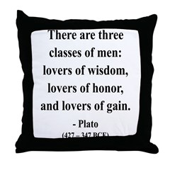 Plato 17 Throw Pillow