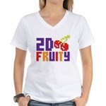 2D Fruity Women's V-Neck T-Shirt