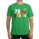 2D Fruity Men's Fitted T-Shirt (dark)