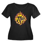 Pi Ro Women's Plus Size Scoop Neck Dark T-Shirt