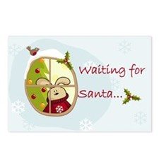 Waiting for Santa... Postcards (Package of 8)