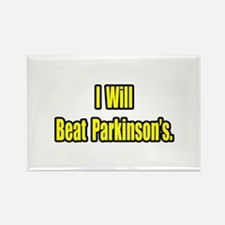 """I Will Beat Parkinson's"" Rectangle Magnet"