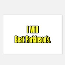 """""""I Will Beat Parkinson's"""" Postcards (Package of 8)"""