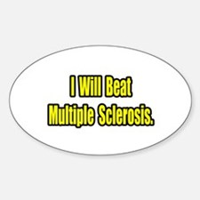"""""""Beat Multiple Sclerosis"""" Oval Decal"""