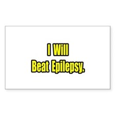 """I Will Beat Epilepsy"" Rectangle Decal"