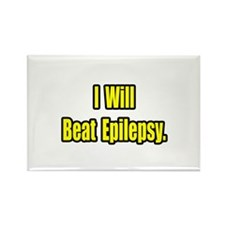 """""""I Will Beat Epilepsy"""" Rectangle Magnet (10 pack)"""