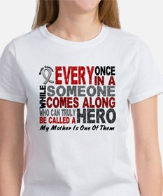 HERO Comes Along 1 Mother BRAIN CANCER Tee