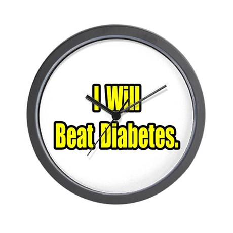 """""""I Will Beat Diabetes"""" Wall Clock"""