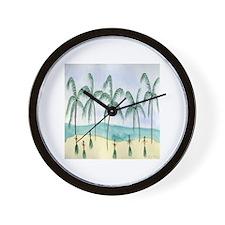 Hulas on the Beach Wall Clock