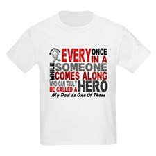 HERO Comes Along 1 Dad BRAIN CANCER T-Shirt