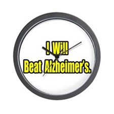 """I Will Beat Alzheimer's"" Wall Clock"