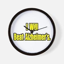 """I Will Beat Alzheimer's"" Wall Clock"